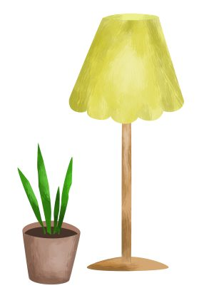 lamp and flor